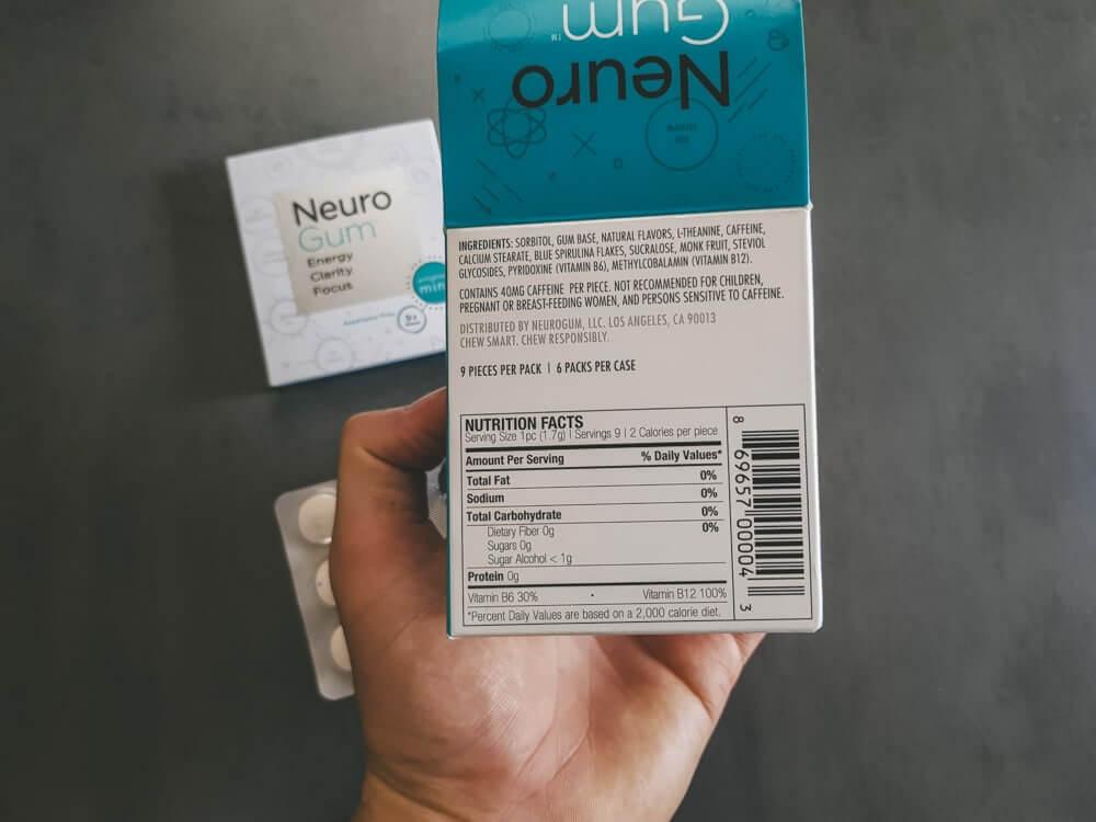Neurogum Ingredients