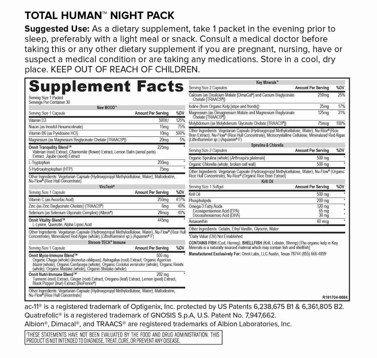 Total Human Night Pack