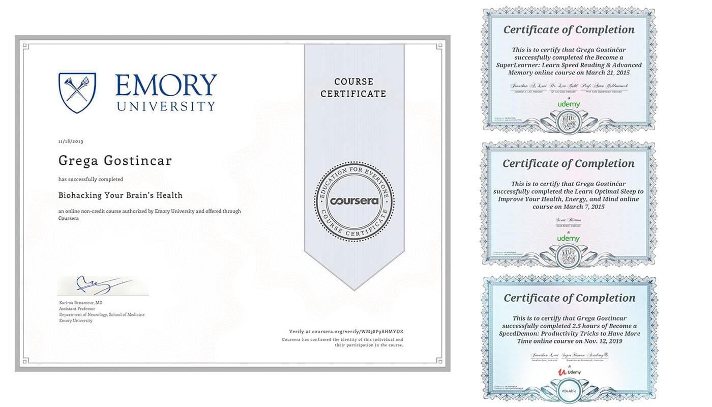 grega gostincar certificates